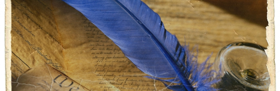 Blue-Writing-Feather